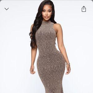 Rolling deep metallic maxi dress